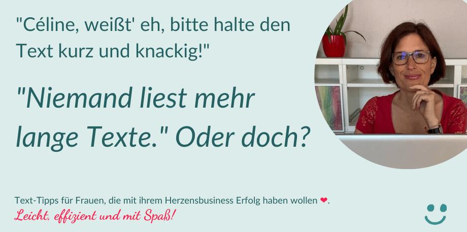 """""""Bitte kurz und knackig – es liest niemand mehr lange Texte."""" Oder doch?"""